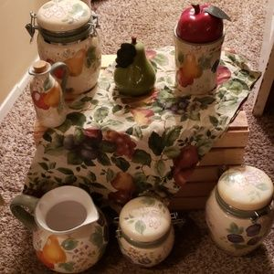 Other - canister set with matching pitcher and valance
